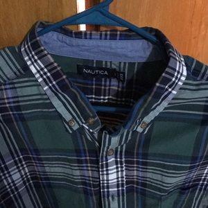 Nautica dress shirt worn once like new
